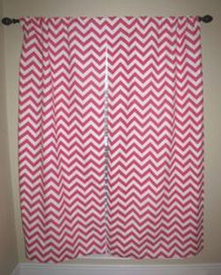 Candy Pink Chevron Curtains