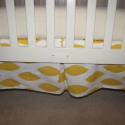Chipper Yellow Crib Skirt