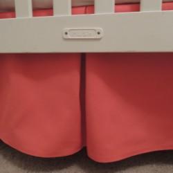 Coral Crib Skirt