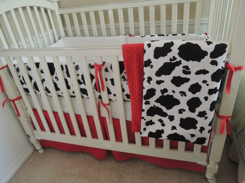 The Cowhide Baby Bedding Set