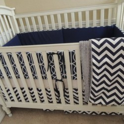 Dwell Navy Baby Bedding Set