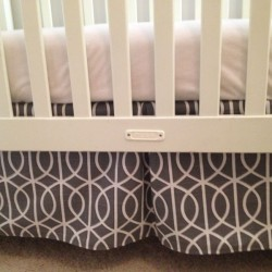 Gray Bella Porte Crib Skirt