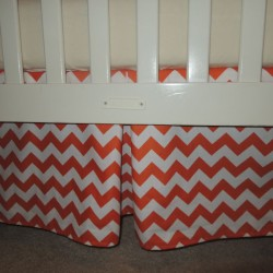 Orange Chevron Crib Skirt