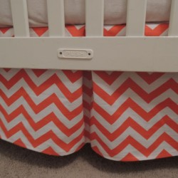 Tangelo Orange Crib Skirt