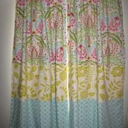 Tarika Triple Fabric Hidden Tab Curtains