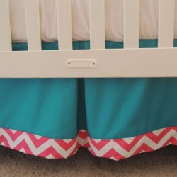 Teal Tangelo Crib Skirt