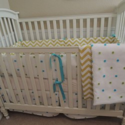 The Fuzzy Dot Baby Bedding Set
