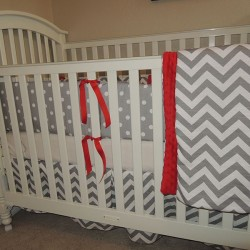 Red Balloon Baby Bedding Set