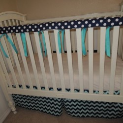 Teething Guard Navy Dots