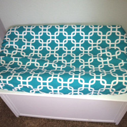 Lattice Turquoise Changing Pad Cover