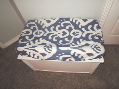 Navy Ikat Changing Pad Cover