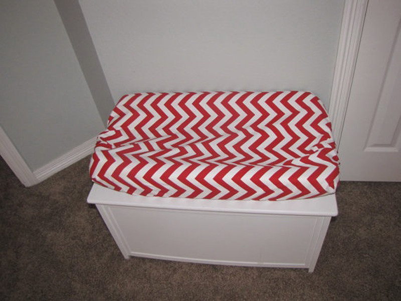 Chevron Red Changing Pad Cover