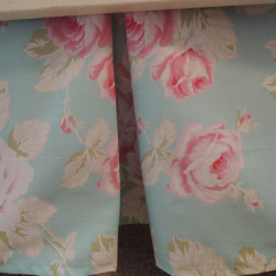 Tiffany Aqua Roses Crib Skirt