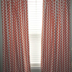 Orange Chevron Curtains