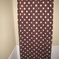 Pink Polka Curtains