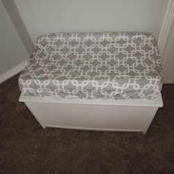 Lattice Gray Changing Pad Cover