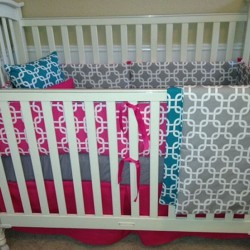 Lattice Love Baby Bedding Set