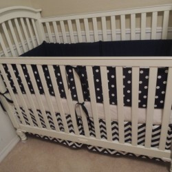 Nice Navy Baby Bedding Set