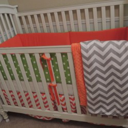 Orange Pop Baby Bedding Set