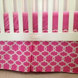 Pink Tarika Crib Skirt