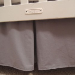 Solid Gray Crib Skirt