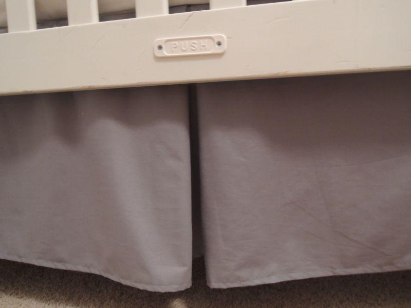 Gray crib skirt large size of blankets u0026 crib skirt for Happy floors valencia grey