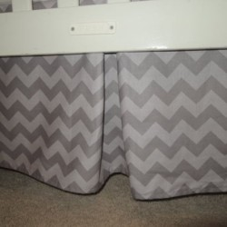 Two Tone Gray Crib Skirt