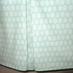 Honeycomb Aqua Spots Crib Skirt