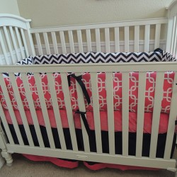 Chevron Lattice Baby Bedding Set