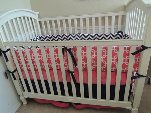Chevron Lattice Baby Bedding Set