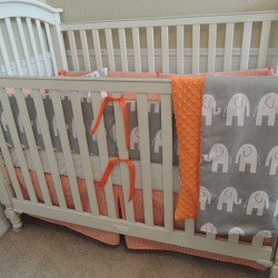 Orange Houndstooth and Gray Elephants