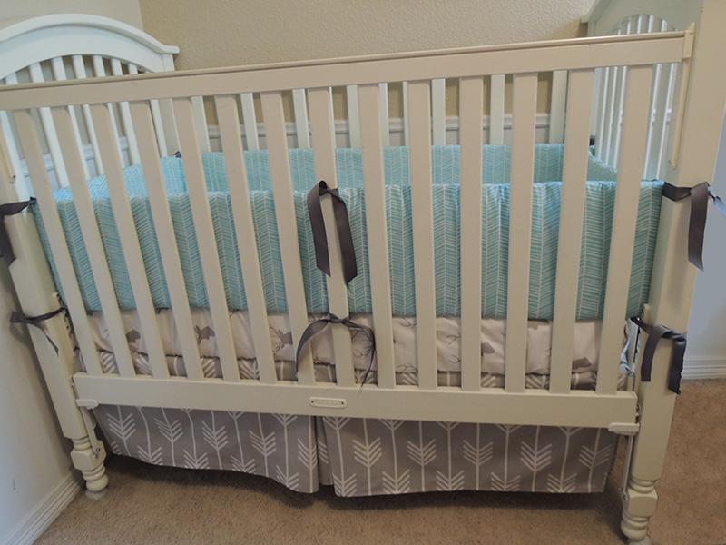 Gray Nature Baby Bedding Set