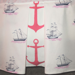 Nautical Crib Skirt