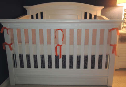 Seersucker Herringbone Baby Bedding Set